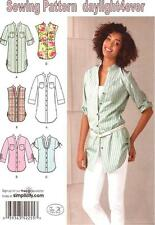 Women Clothing Top Shirt Tunic Blouse Sewing Pattern 2255 Simplicity New 6-22