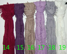 men Women's Fashion Gradient Wrap lady Shawl Stole Silk Chiffon Scarf  //CH