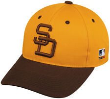 MLB SAN DIEGO PADRES Baseball COOPERSTOWN Cap HAT Velcro STRAP, YOUTH, ADULT