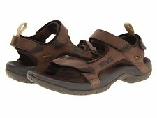 NEW - Men's Teva Tanza LEATHER Sandals - Brown - 1000183-BRN