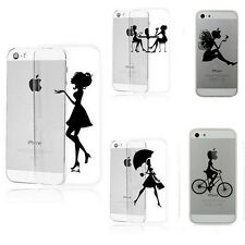 Noble Beauty Lady Case Cover For iPhone 5/5s/6/6 Plus Ultra-thin Transparent