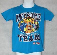 Lego Movie Boys T-Shirt New Blue Everything is Awesome Part of a Team