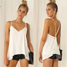 Fashion Womens Summer Vest Top Sleeveless Blouse Casual Tank Tops T-Shirt
