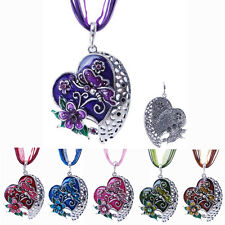 Jewelry Love Heart Flower Butterfly Necklace Pendant Chain Women Party Leather