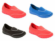 WOMENS LIGHTWEIGHT SLIP ON PUMPS SHOES FLAT SPORTS TRAINERS LADIES UK SIZE 3-8