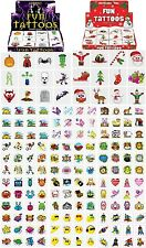 48 Tattoos Party Pack of Temporary Childrens Tattoos Party Bag Filler Favour Toy