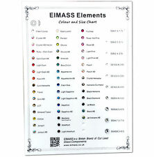 EIMASS® Rhinestone Colour & Size Chart, Sample, Guide to Ordering Flat Back Gems