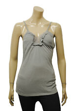 Womens Xhilaration Vest Camisole Strappy Lace Trim Top Grey Size 8 to 16 A14