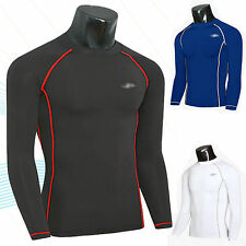 Mens Compression Base Layer Long Sleeve Under Shirts Skin Tight Top Body Armour