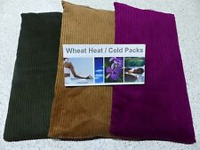 3 x Large Wheat Heat Cold Bags- Bulk Pack- LAVENDER & CHAMOMILE- FREE POSTAGE