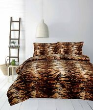 Tiger Micromink Reversible Quilt Doona Cover Set - Single Double Queen King