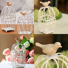 Decorative Bird Cage Wedding Tealight Scented Candle Holder Home Decor Iron Art