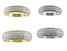 His & Her 14kt Yellow/White Gold CZ Duo Engagement Ring Wedding Band Set