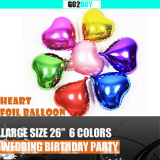 """26"""" Heart Foil Balloon Kids Birthday Wedding Party Decoration 6 Colors"""