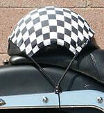 NEW MOTORCYCLE SCOOTER BICYCLE HELMET BUNGEE WITH COLORED FABRIC HELMET HOLDER