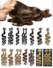 100S Silicone Micro Loop Ring Beads Tip Remy Human Hair Extensions Body Wavy20''
