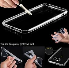 For Apple Samsung Ultra Thin Slim Crystal Clear Soft Rubber TPU Skin Case Cover