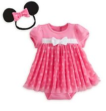 Disney Store Pink Minnie Mouse Baby Costume Outfit Size 3-6 6-9 9-12 18-24 Month