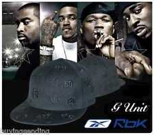 NEW GENUINE BLACK G UNIT CAP FITTED 50 CENT GANGSTER REEBOK HAT SIZE 8 XL LAST 1