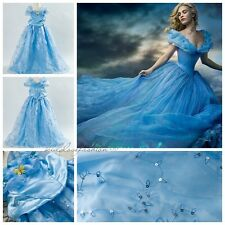 2015 Girl's Disney Princess Cinderella Deluxe Party Fancy Dress UP Costume 2-10T
