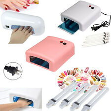 Nail dryers 9W 36W Gel Curing UV Lamp Salon Polish Acrylic Timer Light Manicure