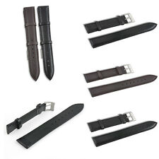 NEW Black/ Brown Color Genuine Leather Watch Band Strap Bands Pin 18/20/22/24 mm