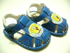 Spongebob Toddler Boys PVC Sandals SG3306 Blue - Size US 6~8 Medium