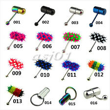 Vibrating Tongue bar barbell Steel and Silicone Koosh 16 Style Piercing Jewelry
