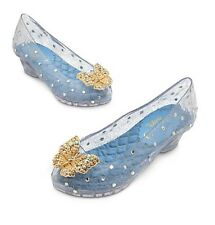Disney Store Cinderella Deluxe Movie Slippers Butterfly Dress Shoes 9/10 11/12
