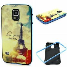 Paris Eiffel Tower 2in1 Glossy Anti-Shock Soft Rubber TPU Case Cover for phones