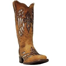 Cowtown Ladies Tan Sequence Wing and Cross Boot F402 New