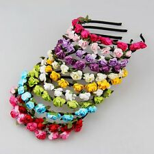 Flower Garland Floral Bridal Headband Hairband Wedding Prom Hair Accessories NEW