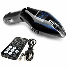 Universal Car Wireless FM Radio Transmitter MP3 USB SD Card Slot + Remote - BLUE
