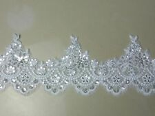 Beautiful Cathedral 1 Tier Wedding Veil Lace Sequin Purfle 3Meter Long + comb