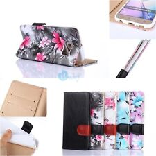 Floral Card Holder Leather Flip Case Cover Skin Wallet For Samsung Galaxy Series