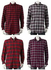 Croft & Barrow NEW Mens Big & Tall Signature Flannel Button-Down Plaid Shirt $42