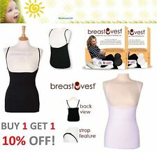 BREASTVEST Breast Feeding Vest Black or White Size XS S M L XL Maternity Bra
