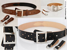 FULL GRAIN LEATHER OFFICER TOOL BELT - ARMY - MILITARY - POLICE - 5 COLOURS!
