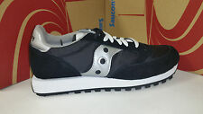 Saucony Men's Jazz Original Black Silver Running Shoes size 7.5-13