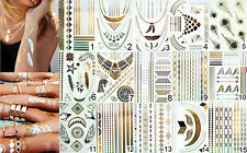 *NEW* Flash Tattoo Temporary Metallic Gold Snaptats Beach Body Summer Hot Gift