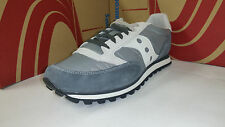 Saucony Men's Jazz Low Pro Grey White Running Shoes size 7.5-13