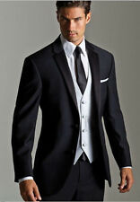 2015 New Black Men's Wedding Formal Occasion Tuxedos & Formal Suits Custom Size