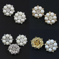 5 Pcs Boutons Floral Sewing Perles Fausses & Strass Cristal Scrapbooking