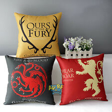 Bed Game of Thrones Sofa Pillowcase Cushion Cover Pillow Case Home Decorative
