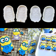 2xMinions Cake Fondant Plunger Cutter Mold Biscuit Cookies Mould Decorating Tool