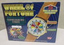 1999 NEW SEALED IN BOX WHEEL OF FORTUNE COLLECTIBLE WATCH & PUZZLES IN TIN