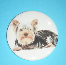 55mm Large Round Pin Button Badge with Dog Breed photo or picture
