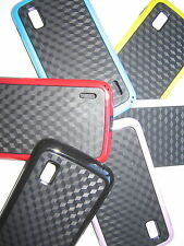 LG GOOGLE NEXUS 4 E960 CARBON FIBRE DESIGN SILICONE PHONE COVER CASE