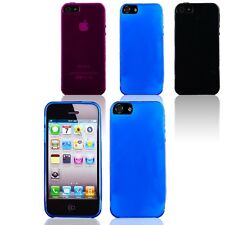 Anti-Dust Transparent Matte Soft TPU Silicone Cover Case Skin for iPhone 5 5S