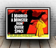 I married a monster from outer space, movie poster, wall art, reproduction.